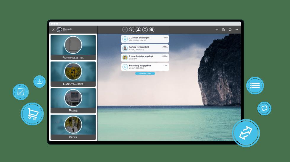 AceTime Anwendung mobile